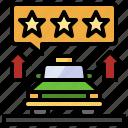 commerce, like, rating, shopping, stars, taxi, transportation