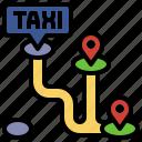 destination, itinerary, location, maps, route, tour, tourism