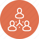 group, hierarchy, management, organization, people, structure, team icon