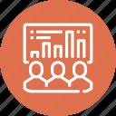 chart, data, efficiency, management, people, staff, statistics icon