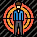 business, management, target, team, teamwork, work icon
