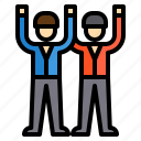 business, management, team, teamwork, work icon
