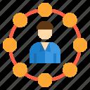 business, management, network, team, teamwork, work icon