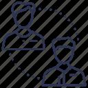 communication, conversation, dialogue, people, team icon