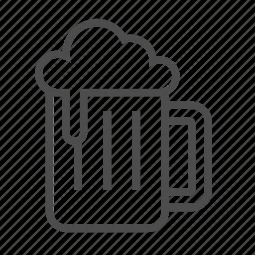 beer, chill, dinner, draft, drink, drunk, work icon