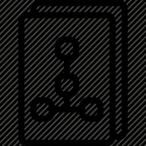 flowchart, management, network, sitemap icon