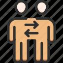 change, man, people, replace, team, teamwork, work icon