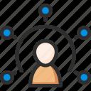 connection, man, team, teamwork, user, work icon