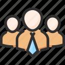 boss, leader, man, team, teamwork, work icon