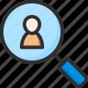 candidate, find, man, search, team, teamwork, work icon