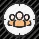 candidate, leader, man, target, team, teamwork, work icon