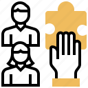building, constitute, establish, set, team icon