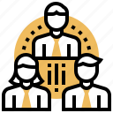 department, division, group, party, work icon