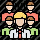 big, company, group, partner, team icon