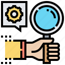 analysis, competent, effective, management, productive icon