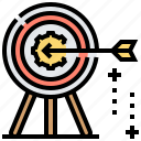 aim, goal, objective, purpose, target icon