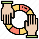 aid, assist, help, sharing, support icon