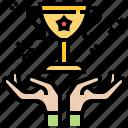 successachievement, triumph, trophy, win icon