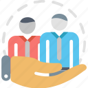 care, group, hr, human resources, protection, team, teamwork icon