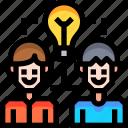 creative, design, energy, idea, light icon