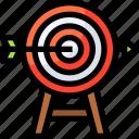 aim, arrow, arrows, direction, focus, goal, target icon