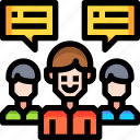 communication, group, leader, network, team, teamwork, users icon