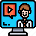 call, chat, communication, facetime, interaction, message, video icon
