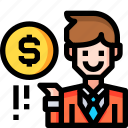 business, cash, currency, dollar, finance, money, office icon