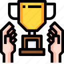 achievement, award, business, cup, medal, success, trophy icon