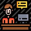 assigment, business, businessman, desk, office, working icon