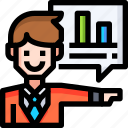 analysing, analytics, business, data, database, graph icon