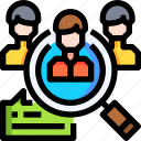 avatar, find, group, magnifier, people, search, team icon