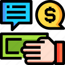 business, cash, currency, deal, finance, money icon