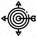 arrow, sport, objective, archery, targeting, target, arrows icon