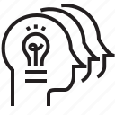 brain, cooperate, human, idea, team, teamwork icon