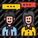 conversation, talk, man, woman, business