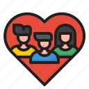 heart, man, woman, teamwork, business