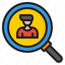 search, magnifly, glass, man, business, research