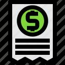 bill, receipt, invoice, document