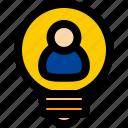 bulb, idea, creative, light