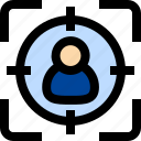 target, user, employee, focus