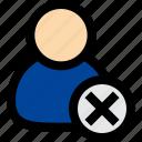 user, delete, cancel, employee