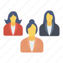employees, group, management, team icon