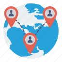 connection, global, location, network