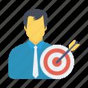 focus, goal, target, user icon