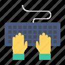 computer, keyboard, keys, typing