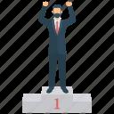 achievement, number 1, success, winner
