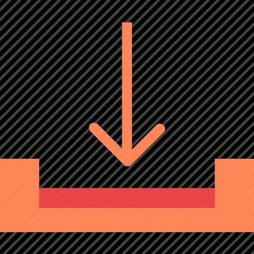 arrow, down, download, guardar, save icon