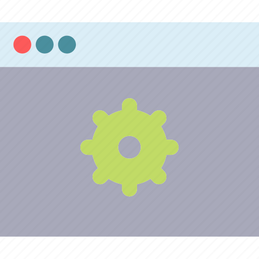browser, internet, intranet, server, settings, technology, web icon