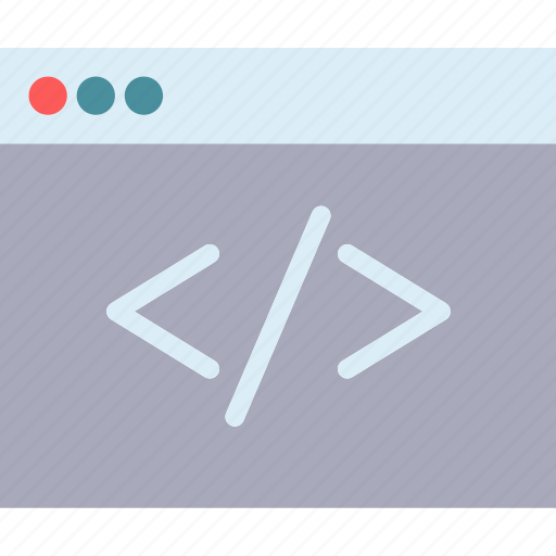 browser, code, internet, intranet, server, web icon